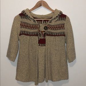 Free People Wool Blend Cardigan Hoodie